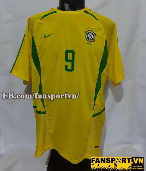 Áo đấu Brazil 2002-2003-2004 home shirt jersey yellow