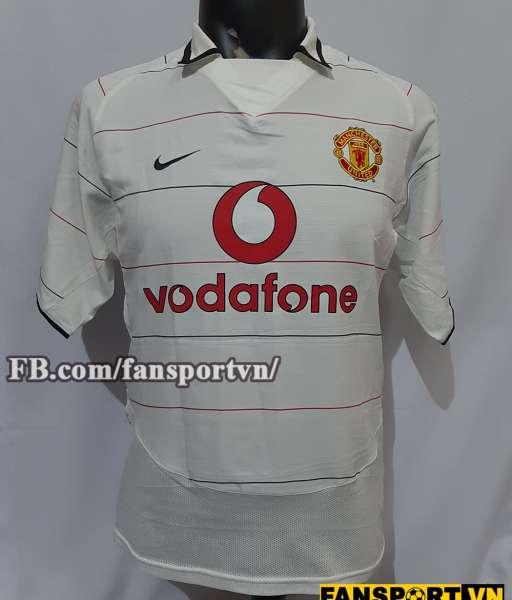 Áo đấu Manchester United 2003-2004-2005-2006 third shirt jersey white