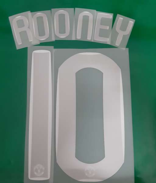 Font wayne Rooney #10 Manchester United 2007-2008 Champion League home