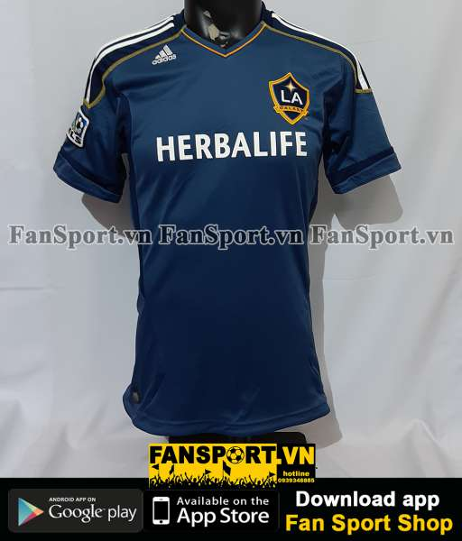 Áo đấu Beckham #23 LA Galaxy 2011-2012 away shirt jersey blue