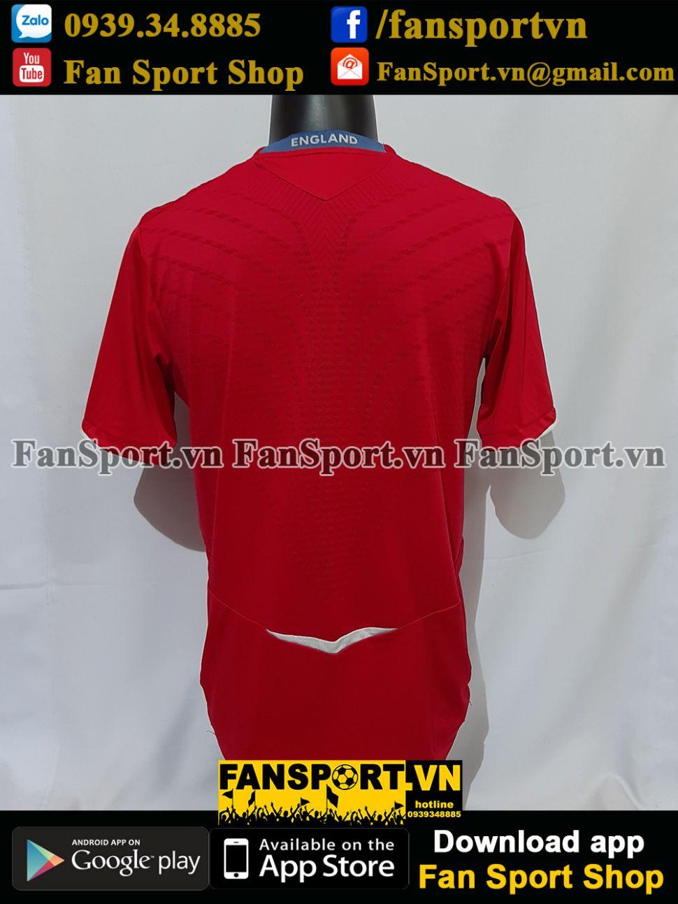 Áo đấu England 2008-2009-2010 away shirt jersey red
