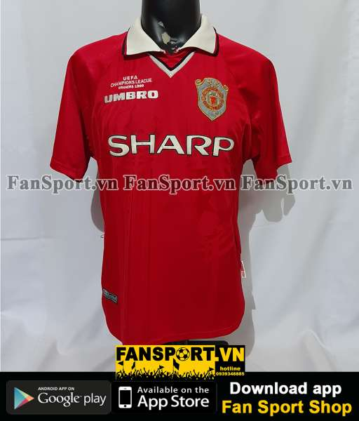 Áo đấu Manchester United 1999-2000 Champion League home red jersey