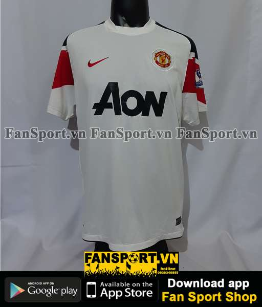Áo đấu Manchester United 2010-2011-2012 away third shirt jersey white