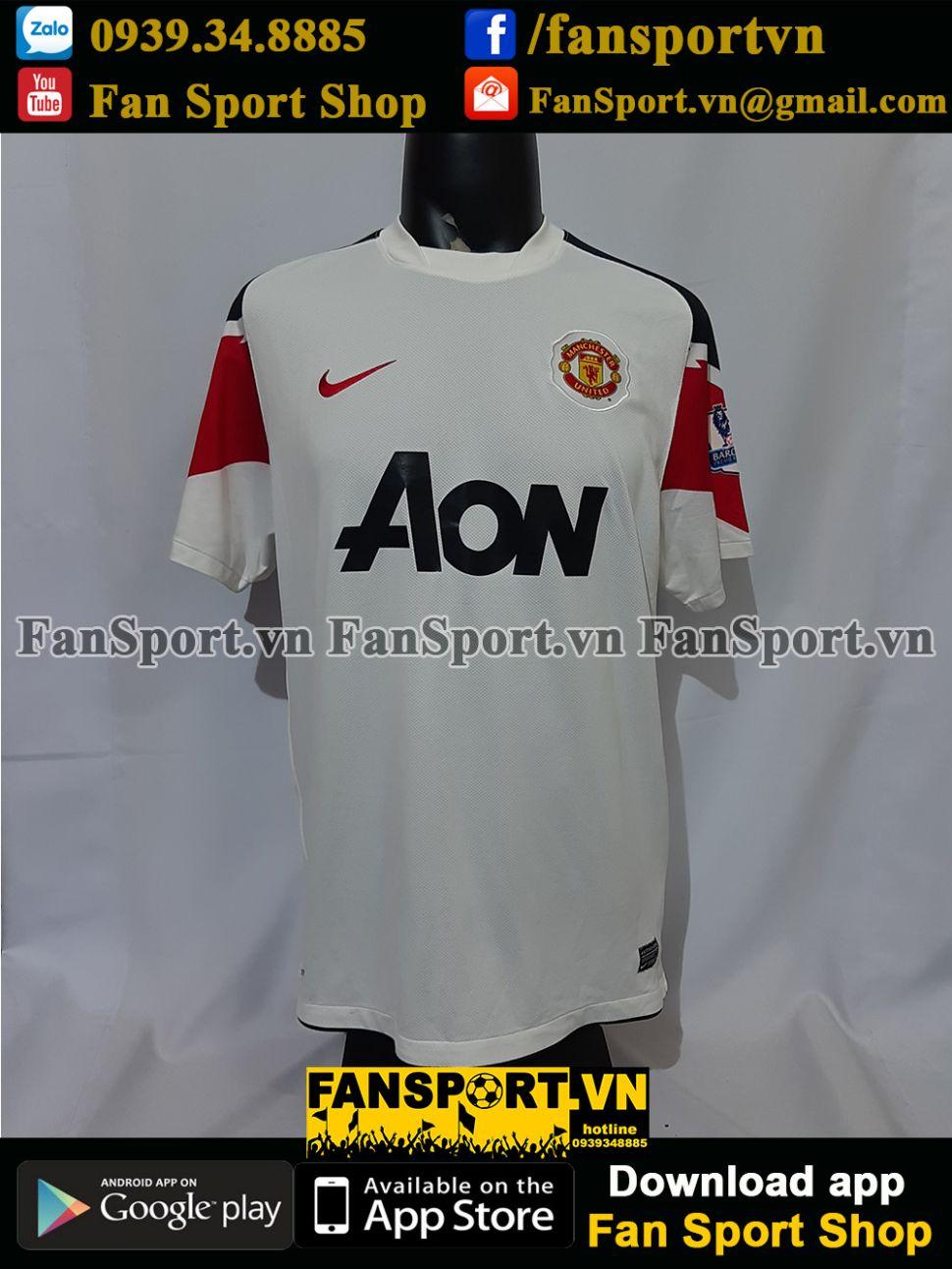 Áo đấu Manchester United 2010-2011-2012 away third shirt jersey white