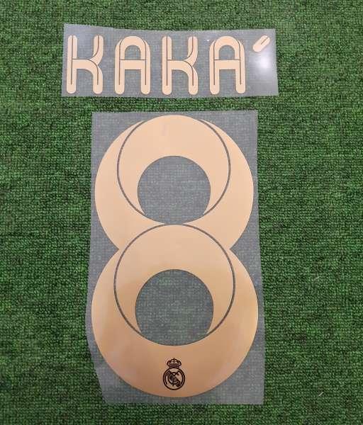 Font Kaka #8 Real madrid 2011-2011 home cup yellow nameset