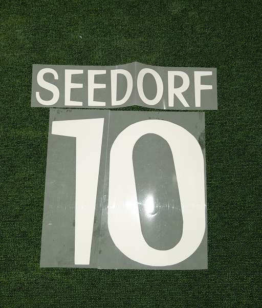 Font Seedorf #10 Real Madrid 1999-2000 away white nameset