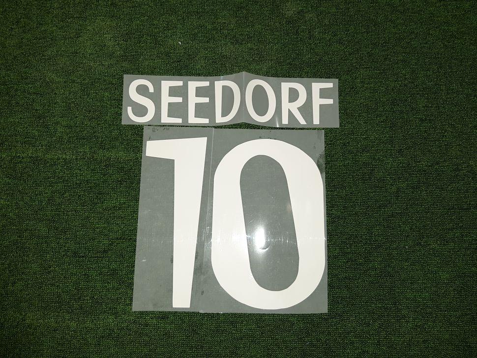 Font Seedorf #10 Real Madrid 1999-2000 away white nameset