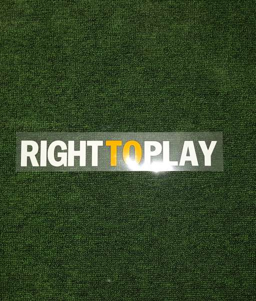 "Decal ""Right To Play"" Chelsea 2011-2012 home shirt"