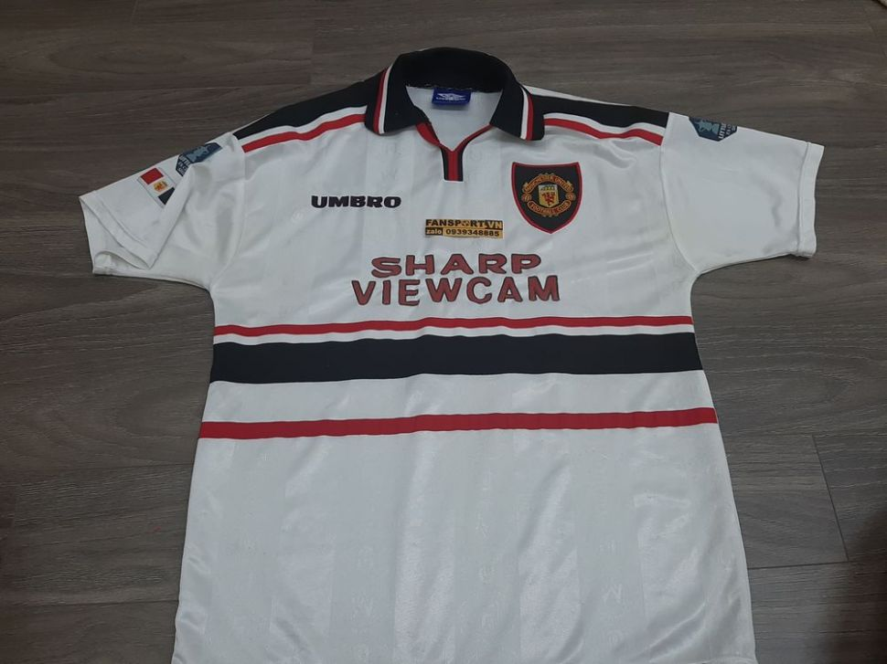 Áo đấu Beckham #7 Manchester United Charity Shield 1997 1998 1999 away