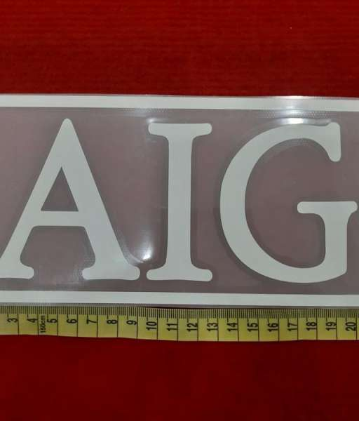 Decal white AIG sponsor logo fanversion