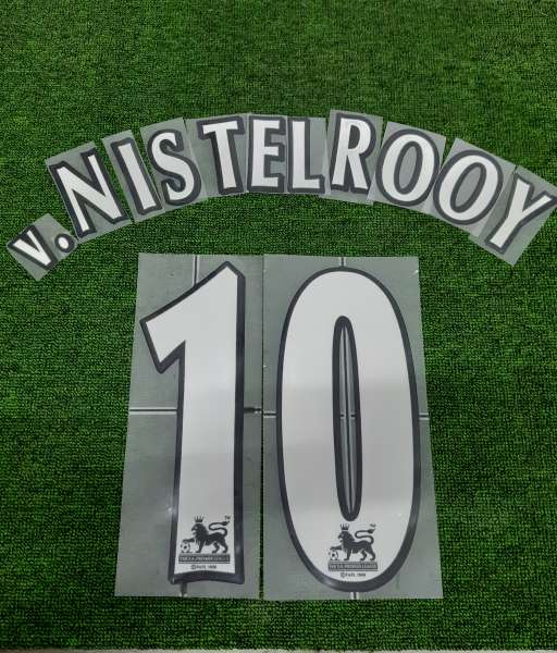 Font V.Nistelrooy Premier League 1997-2007 white nameset