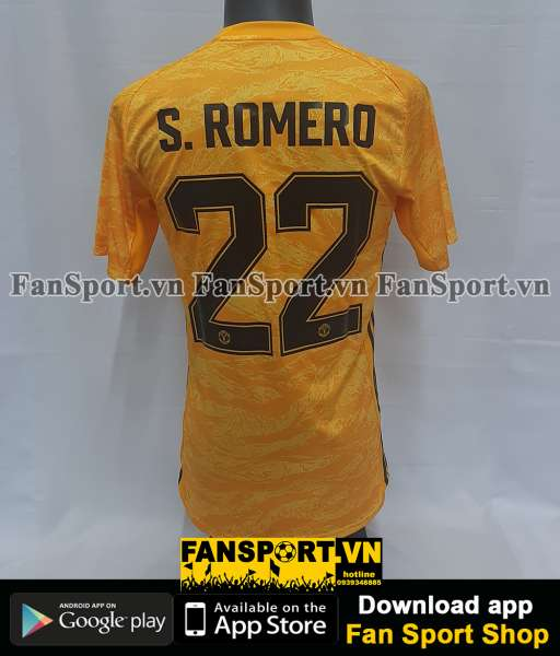 Áo Romero #22 Mancheater United 2019-2020 third shirt goalkeeper gk