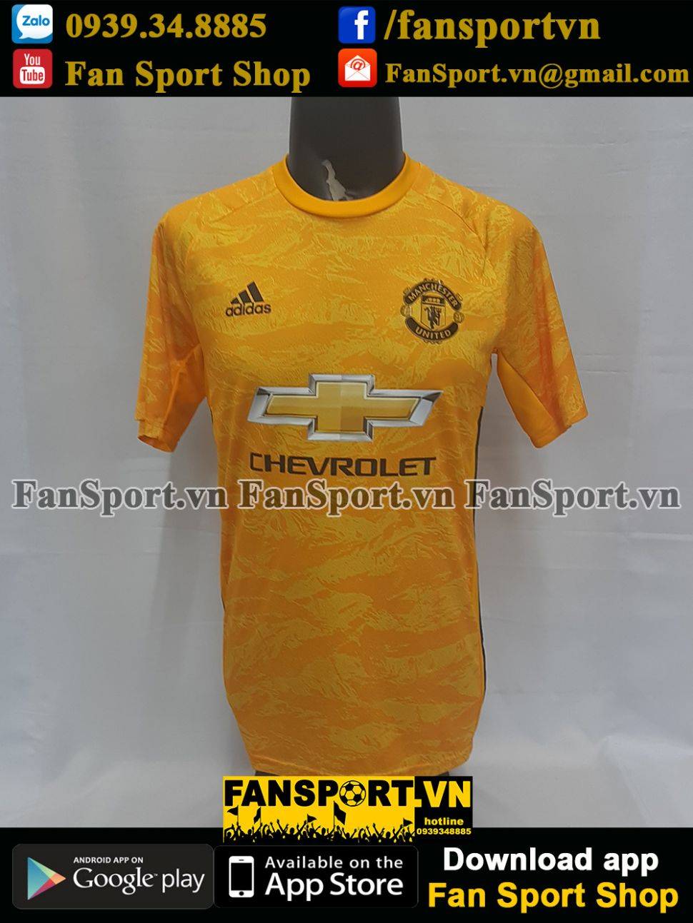 Áo Romero #22 Mancheater United 2019-2020 third shirt goalkeeper gk