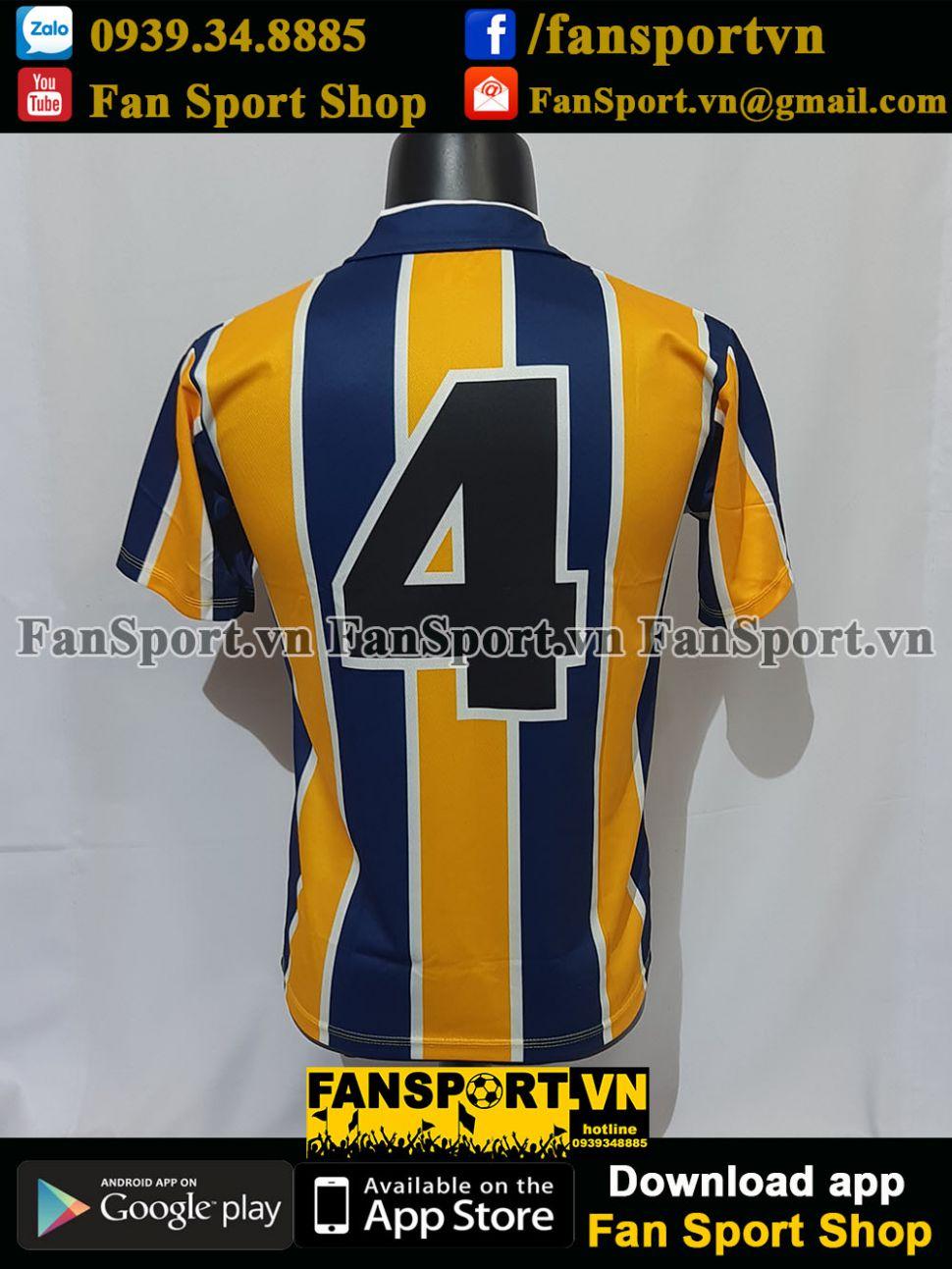 Áo đấu #4 Preston North End 1994 1995 away shirt jersey PNE Beckham