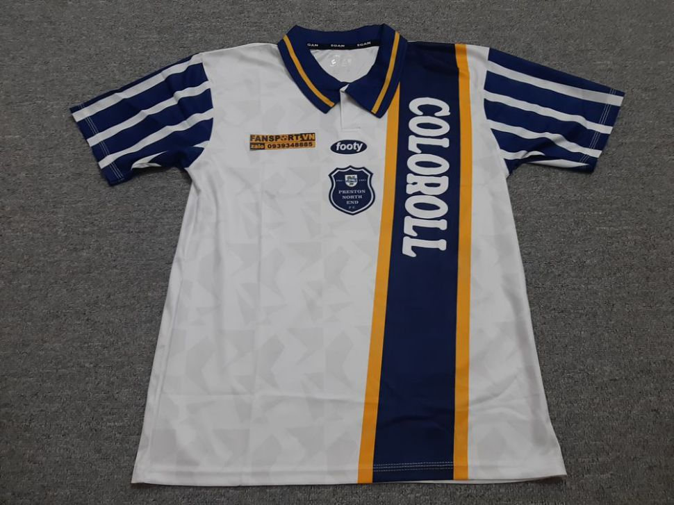 Áo đấu #4 Preston North End 1994 1995 home shirt jersey PNE Beckham