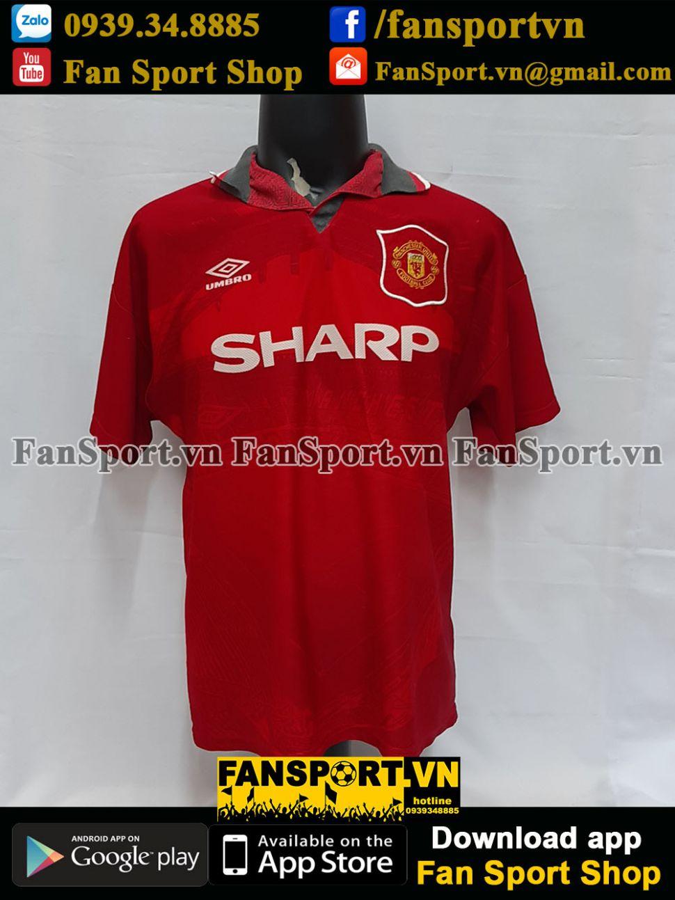 Áo đấu Beckham #24 Manchester United 1994-1995-1996 home red shirt