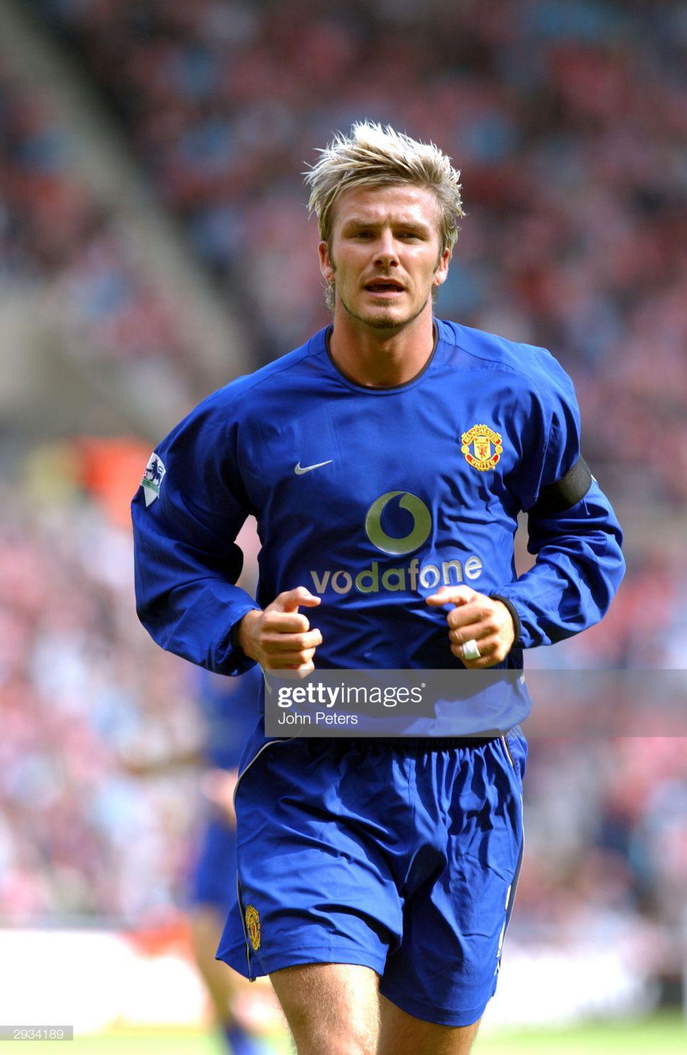 Áo đấu Beckham #7 Manchester United 2002-2003 third shirt jersey blue
