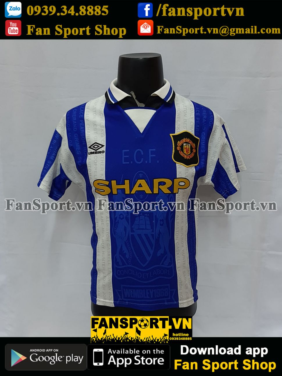 Áo đấu Beckham #10 Manchester United 1994-1995-1996-1997 third shirt