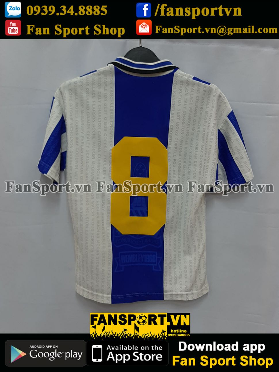 Áo đấu Beckham #8 Manchester United 1994-1995-1996-1997 third shirt