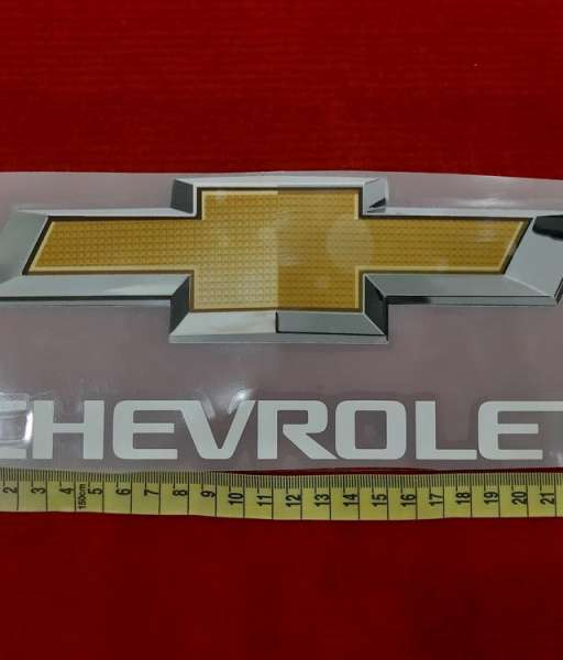 Decal white Chevrolet sponsor logo fan version
