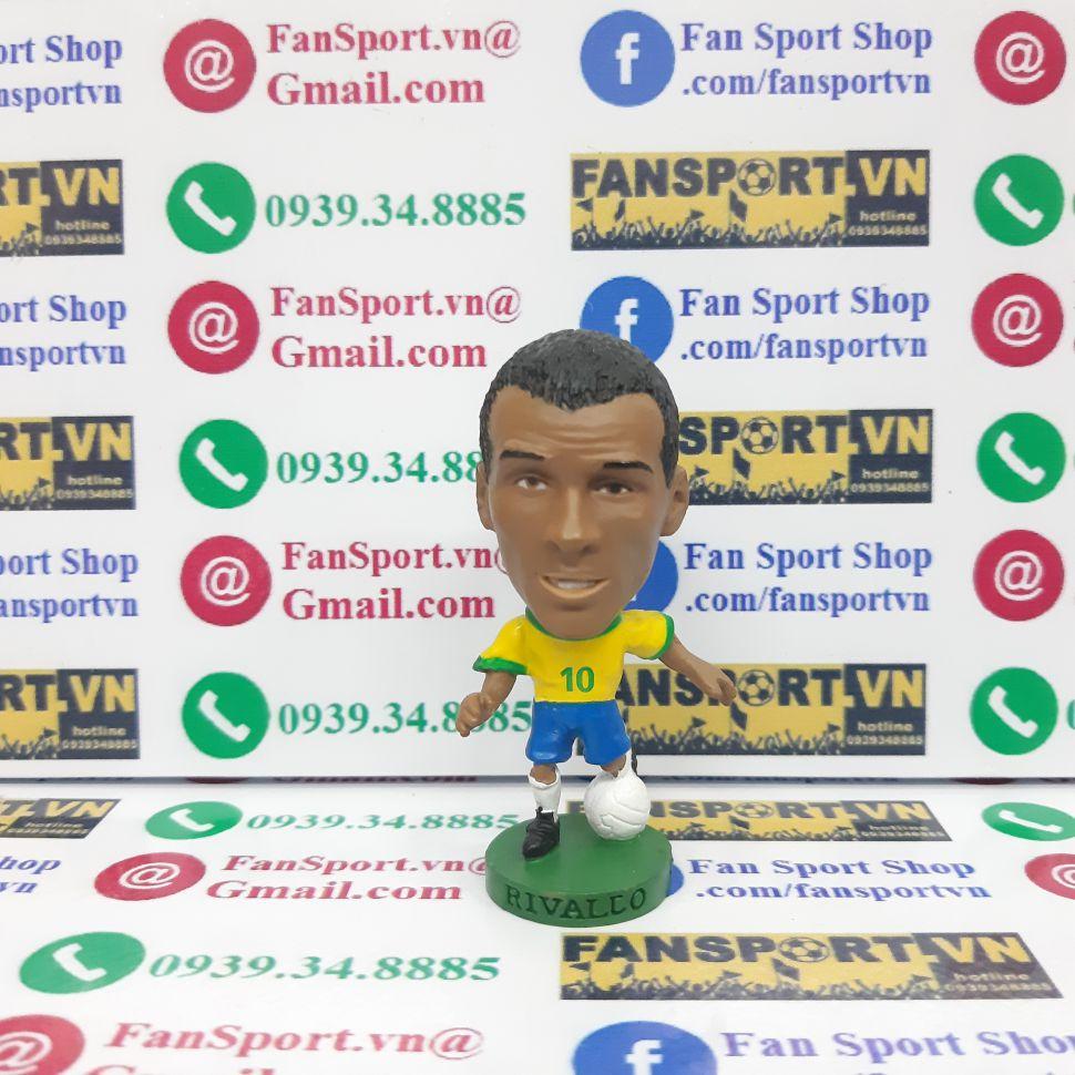 Tượng Rivaldo Brazil 1998-1999-2000 home yellow corinthian PRO569