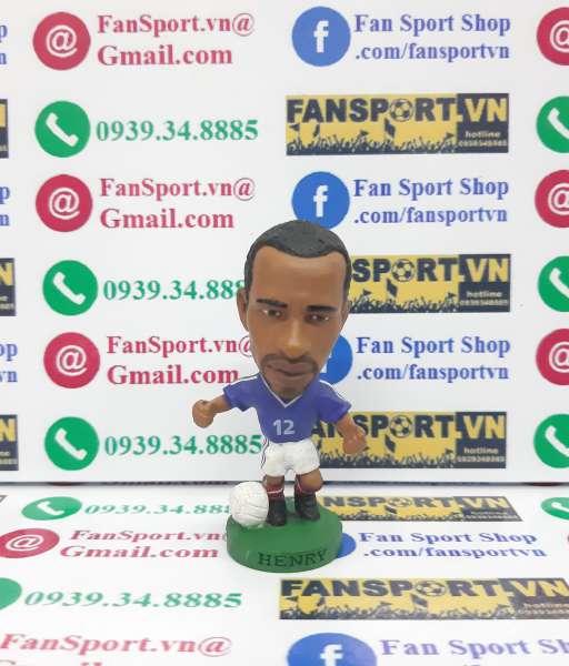 Tượng Thierry Henry France 2002-2003-2004 home blue corinthian PRO567