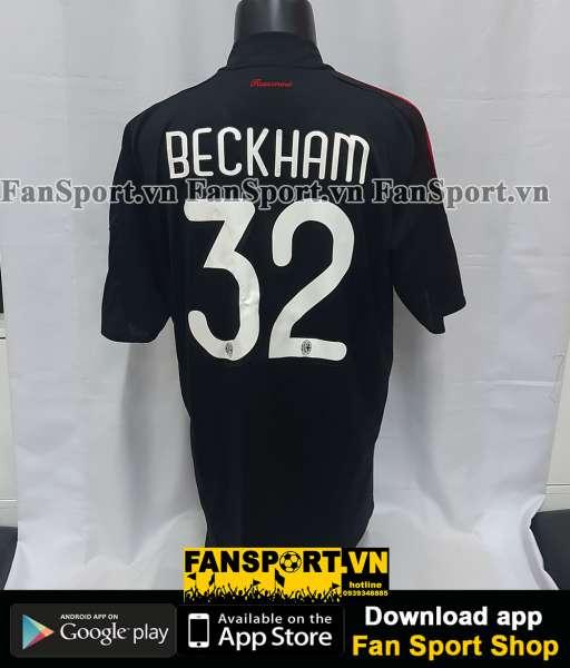 Áo đấu Beckham #32 AC Milan 2009-2010 third shirt jersey black