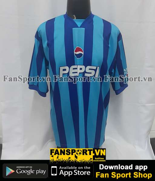 Áo đấu Beckham #7 Pepsi 2000 blue shirt signed