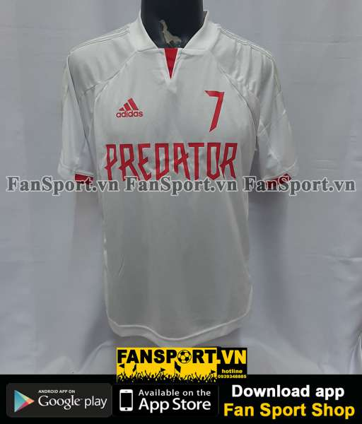 Áo đấu Beckham #7 Predator Adidas 20 years shirt white
