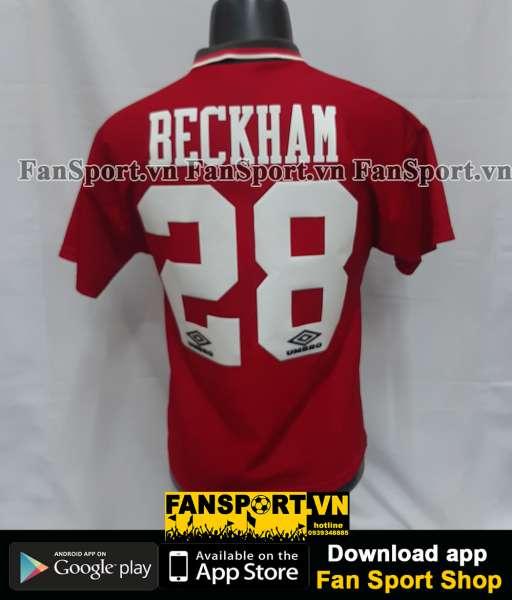 Áo đấu Beckham #28 Manchester United 1994-1995-1996 home shirt jersey