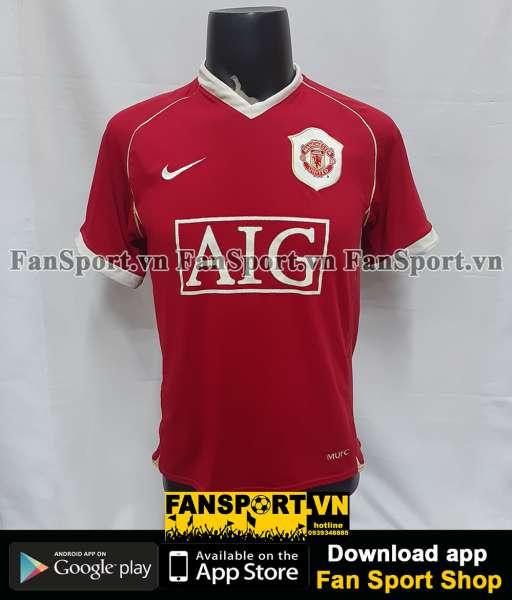 Áo đấu Saha #9 Manchester United 2006-2007 home shirt jersey red
