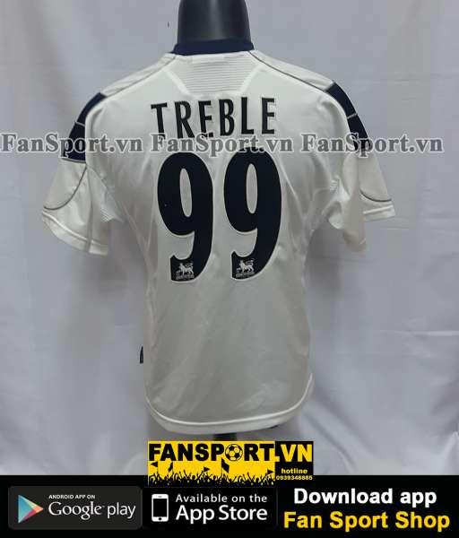Áo đấu Treble #99 Manchester United 1999-2000 third white shirt jersey