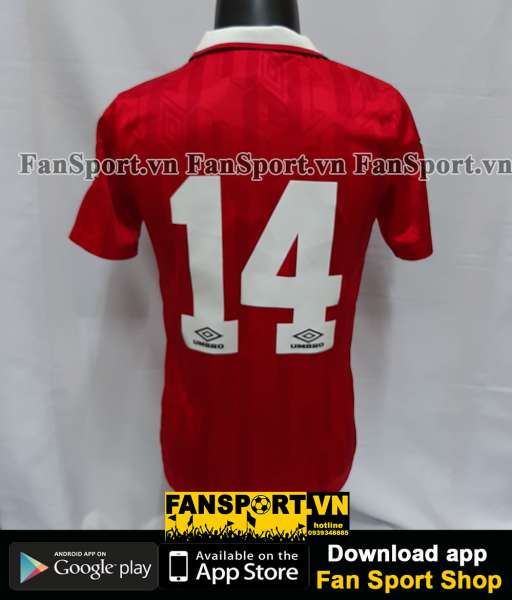 Áo đấu #14 Manchester United 1992-1993-1994 home shirt jersey red