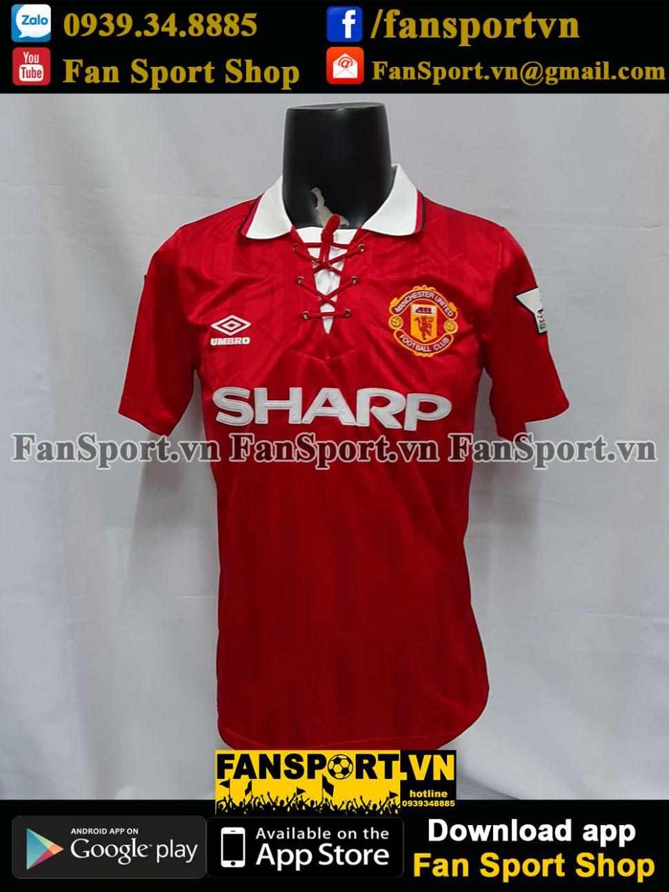 Áo đấu #14 Manchester United 1992-1993-1994 home shirt jersey red