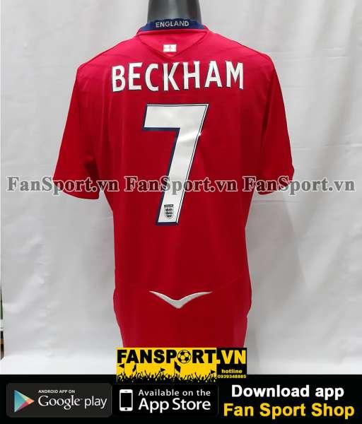 Áo đấu Beckham #7 England 2008-2009-2010 away 100th cap vs France