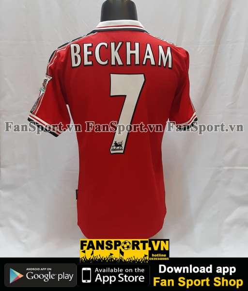 Áo đấu Beckham #7 Manchester United 1998-1999-2000 home shirt jersey