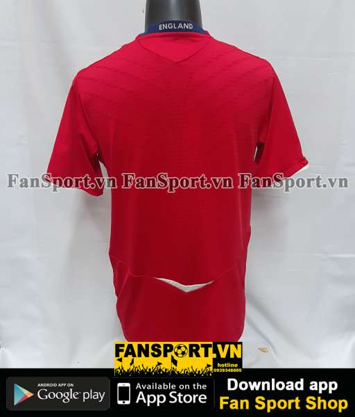 Áo đấu England 2008-2009-2010 away shirt jersey red
