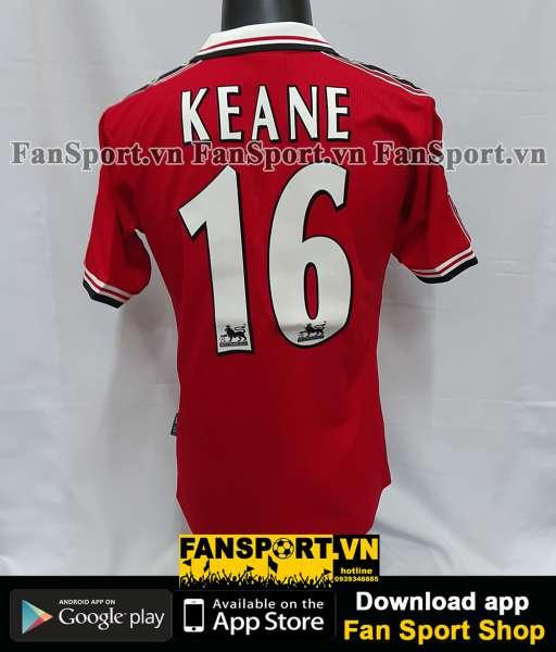 Áo đấu Keane #16 Manchester United 1998-1999-2000 home shirt jersey