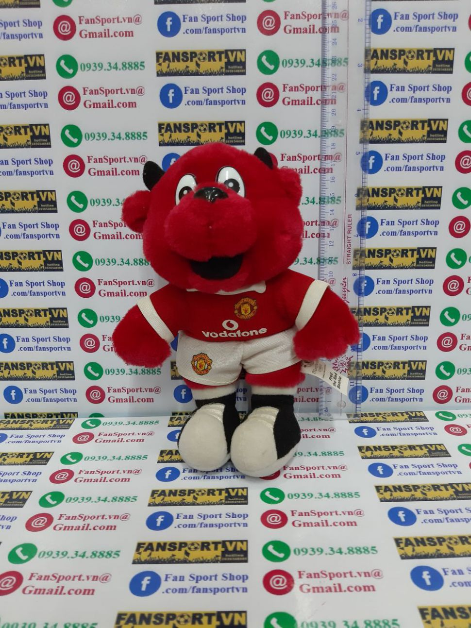 Fred the Red mastcos Manchester United red Vodafone