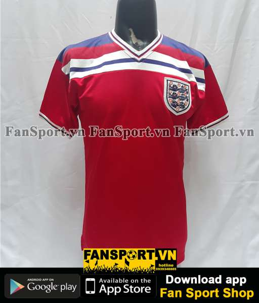 Áo đấu England 1980-1981-1982-1983 away shirt jersey red