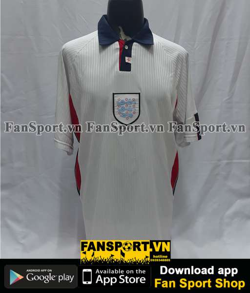 Áo đấu England 1997-1998-1999 home shirt jersey white