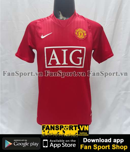 Áo đấu Manchester United 2007-2008-2009 home shirt jersey red