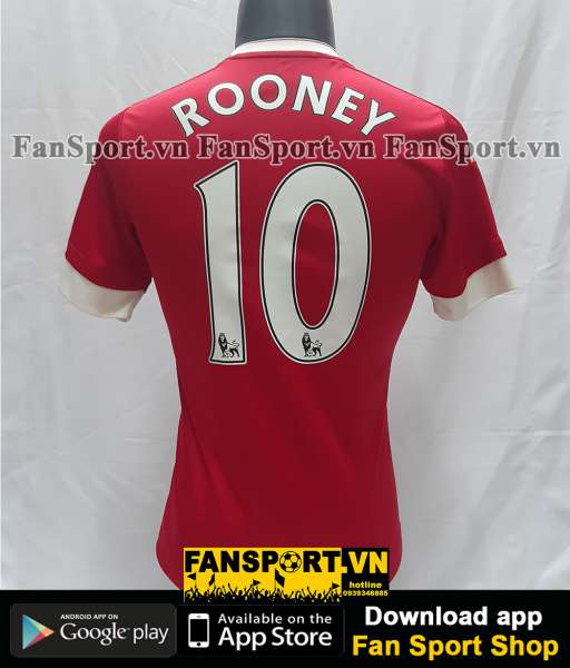 Áo đấu Rooney #10 Manchester United 2015-2016 home shirt jersey red