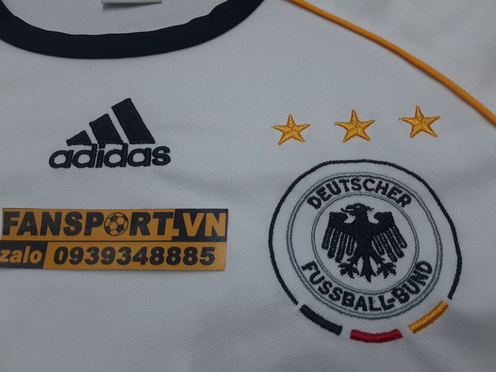 Áo traning Germany 2006-2007 white shirt jersey