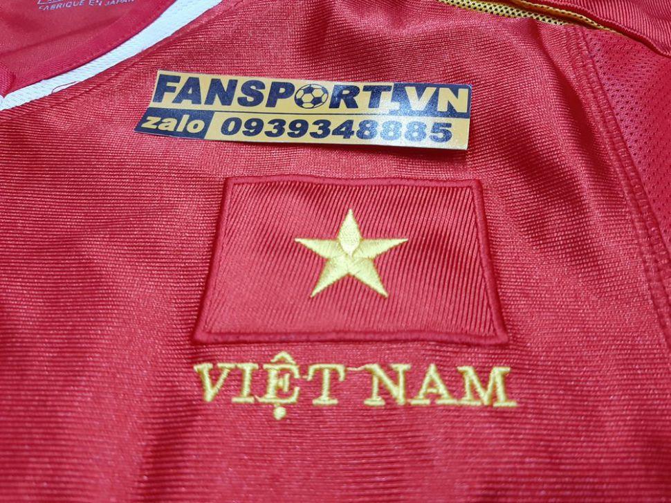 Áo đấu Lê Huỳnh Đức #10 Việt Nam 2002 home shirt jersey red Vietnam