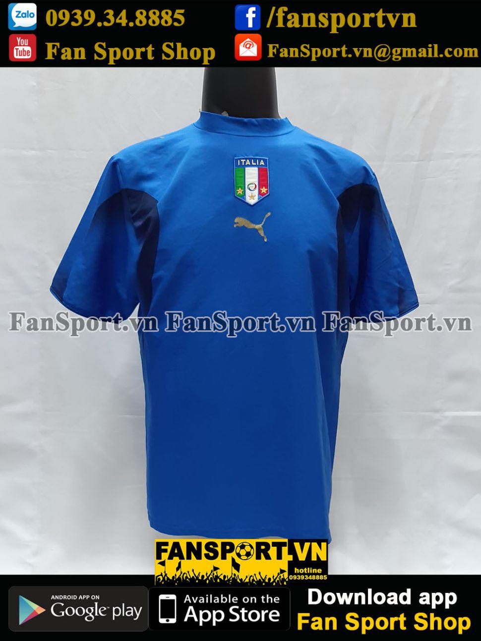 Áo đấu Italy 2006-2007-2008 home shirt jersey blue World Cup