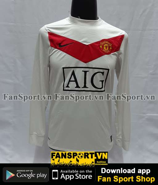 Áo GK Manchester United 2009-2010 home goalkeeper shirt jersey white