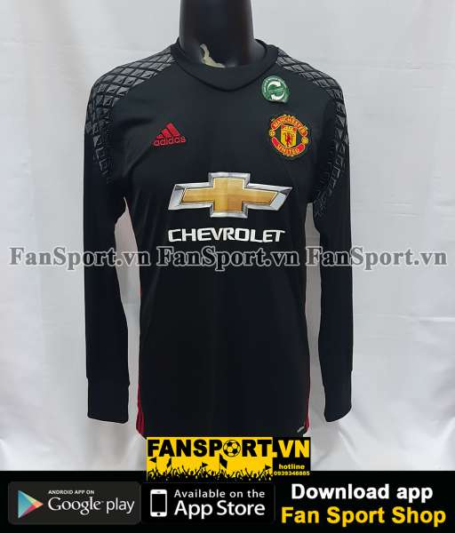 Áo thủ môn Manchester United 2016-2017 home goalkeeper shirt black GK