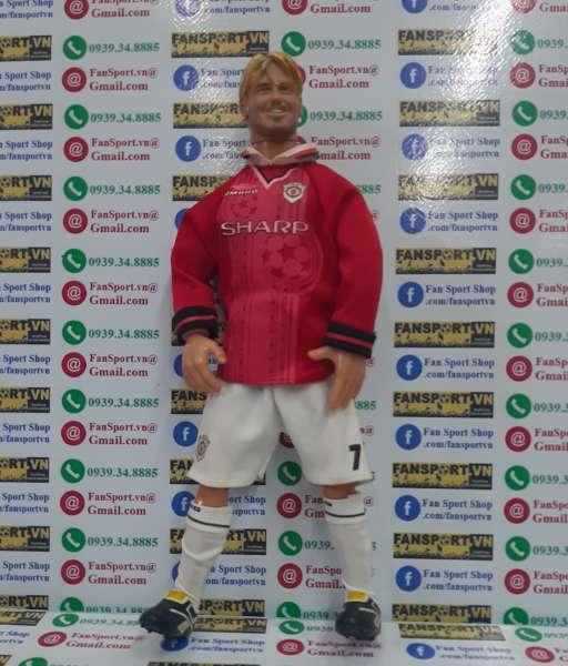 Tượng David Beckham #7 Manchester United Hero Treble 1999 figure red