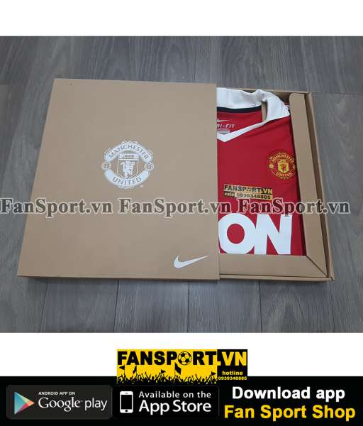 Box áo Manchester United Nike AON 2010-2011 home shirt limited edition